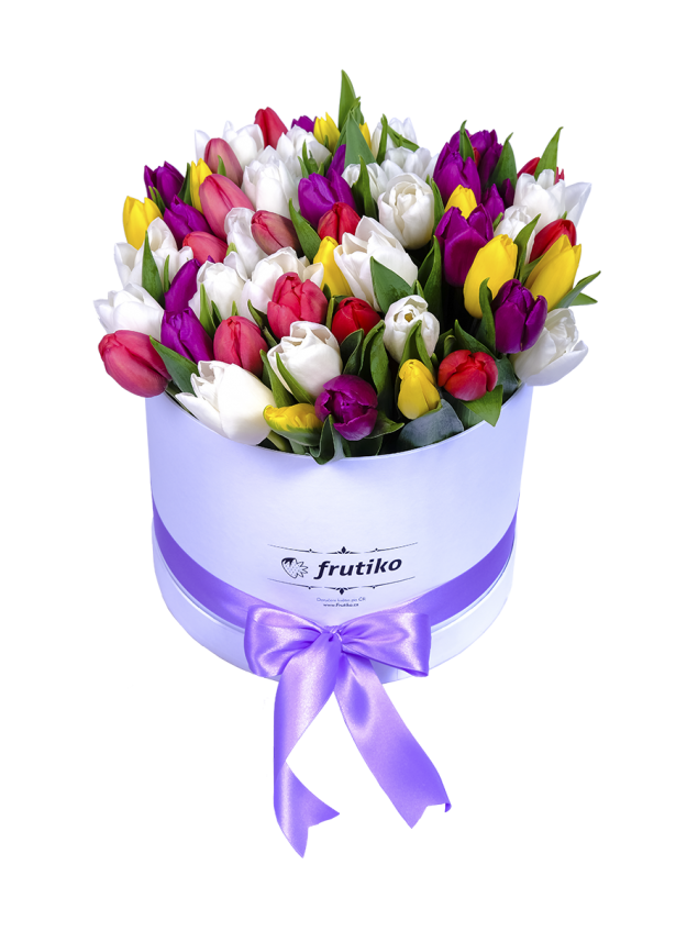 Krabice tulipánů je ten pravý dárek ke Dni učitelů.