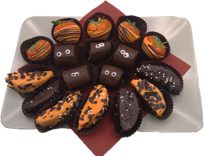 Halloweenská ovocná bonboniéra