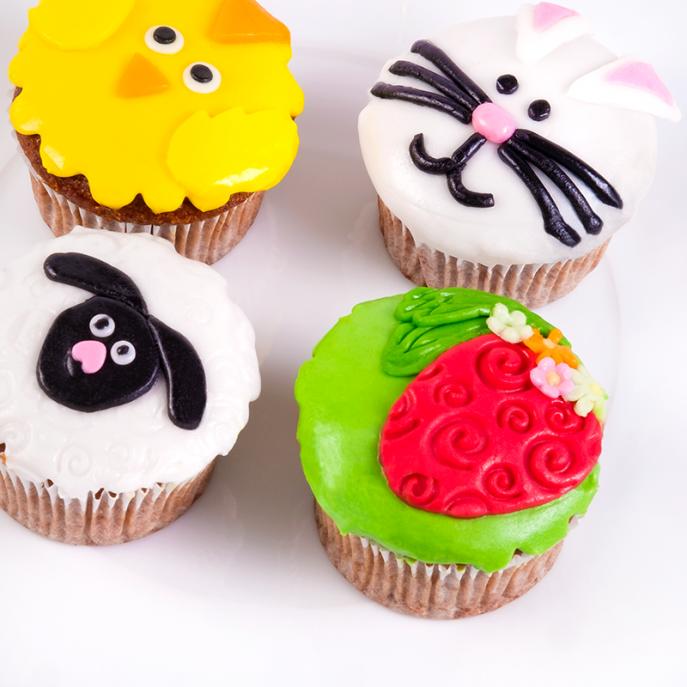 Velikonoční cupcakes Pomlázka