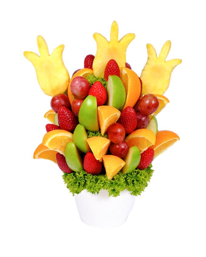 Frutiko ovocná kytice potěší každého učitele na Den učitelů.