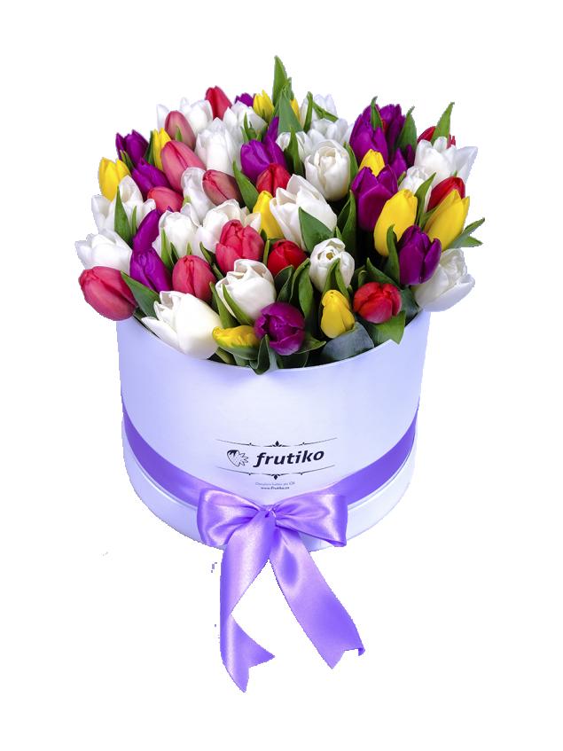 Velikonoční krabice tulipánů